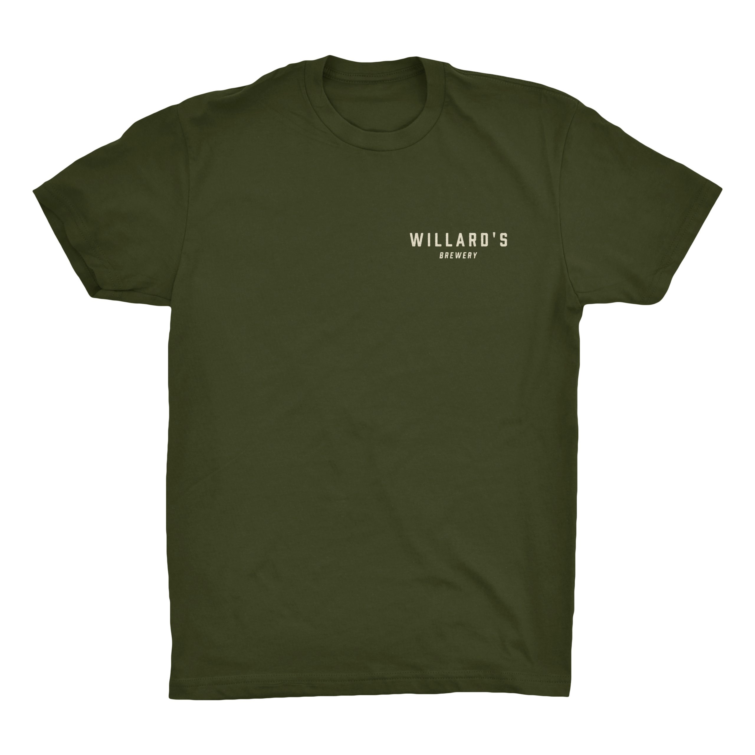 willard's brewery green tshirt